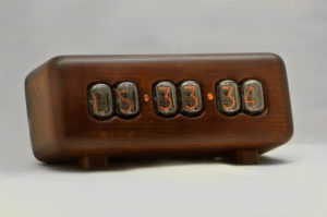 scandinavian interior nixie clock