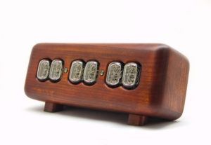 nixie tube clock wooden enclosure