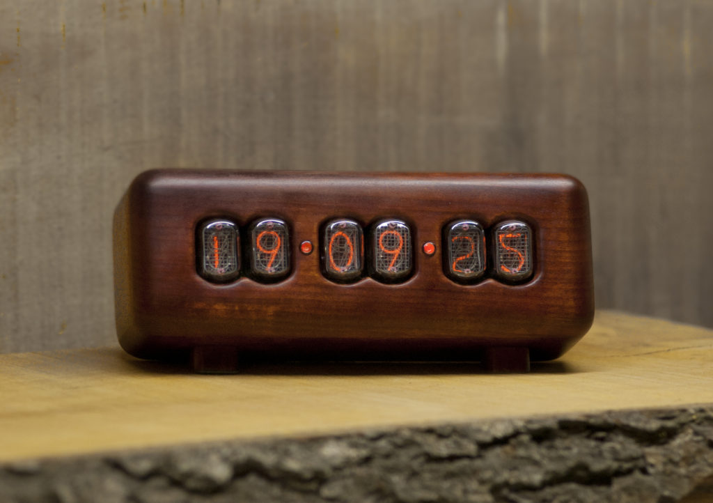 vintage nixie tube clock plane