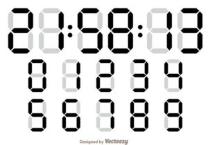 vector-digital-number-counter